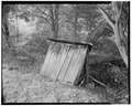 Outhouse, south elevation - Trump-Lilly Farm, Hinton, Summers County, WV HABS WVA,45-HINT.V,1-24.tif