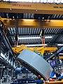 Overhead Cranes 360+360T by ORITCRANES lifting a motor.jpg