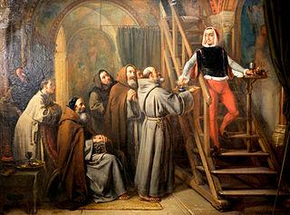 Pérugin peignant pour des moines à Pérouse