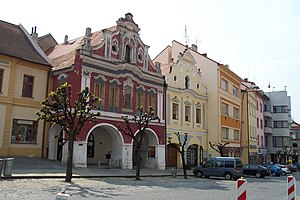 Písek - Old houses in city center