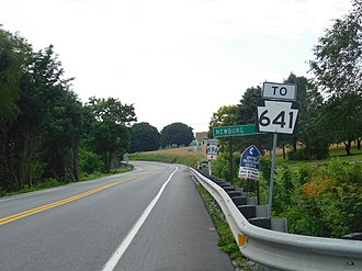 Pennsylvania Route 696 - PA 696 in Hopewell Township from PA 997