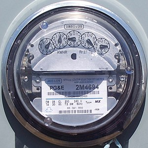 California electricity crisis - Image: PG&E Meter on Angel Island
