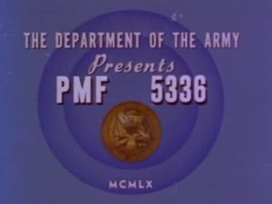 Professional Medical Film - Title card for PMF 5336, a 33 minute film entitled Rehabilitation of Bilateral Amputee, Exercises: Fitting of and Training with Prostheses (1960).