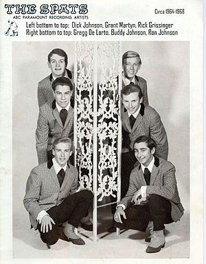 Gregg De Lorto - 1967 - THE SPATS  Left bottom to top: Dick Johnson, Grant Martyn, Rick Grissinger.      Right bottom to top: Gregg De Lorto, Buddy Johnson, Ron Johnson