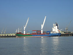 The port of Chittagong