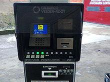 Colonnina POS di stazione carburante self-service