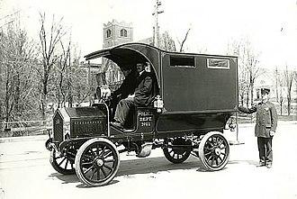 Police van - American police van, Duluth, Minnesota, 1909.