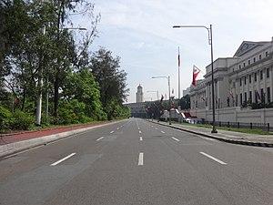 Padre Burgos Avenue - Image: Padre Burgos Avenue with museum and city hall (Ermita, Manila)(2017 06 12)