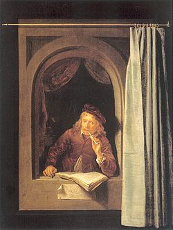 Painter with a pipe and book by Gerard Dou.jpg
