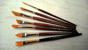 Paintbrush - Brushes used in one stroke painting