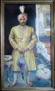 Painting of Gajapati Maharaja Krushna Chandra Dev, Bhubaneswar - Oct 2010.jpg