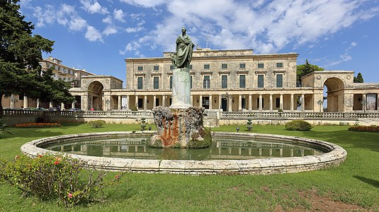 Palace of St. Michael and St. George with statue of Frederick Adam, Corfu