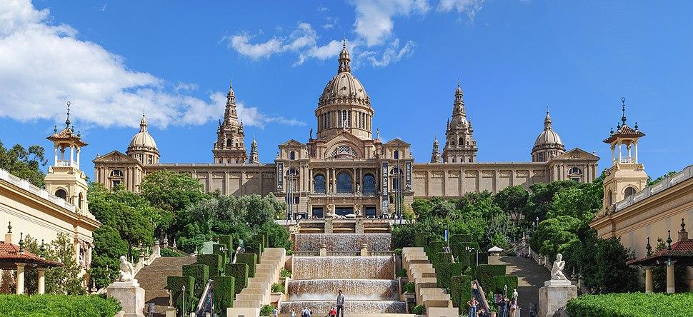 Palau Nacional Barcelona Pano 2013