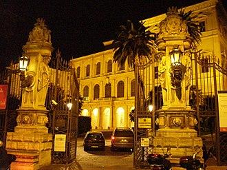Italian Baroque architecture - The Palazzo Barberini at night.