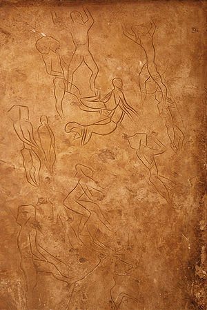 Mesolithic cave art at Addaura.