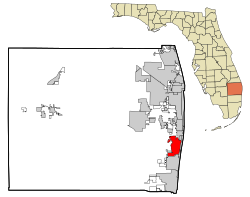 Palm Beach County Florida Incorporated and Unincorporated areas Boynton Beach Highlighted.svg