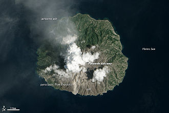 Palu'e - The island on February 12, 2013, as seen from space