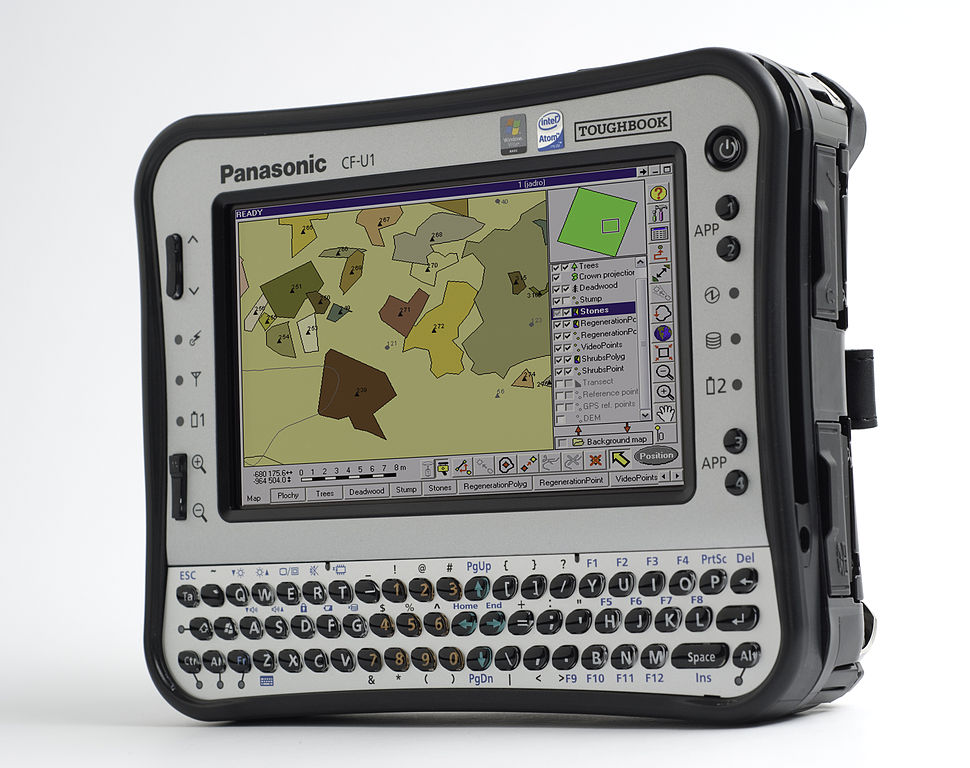 A Panasonic Toughbook field computer