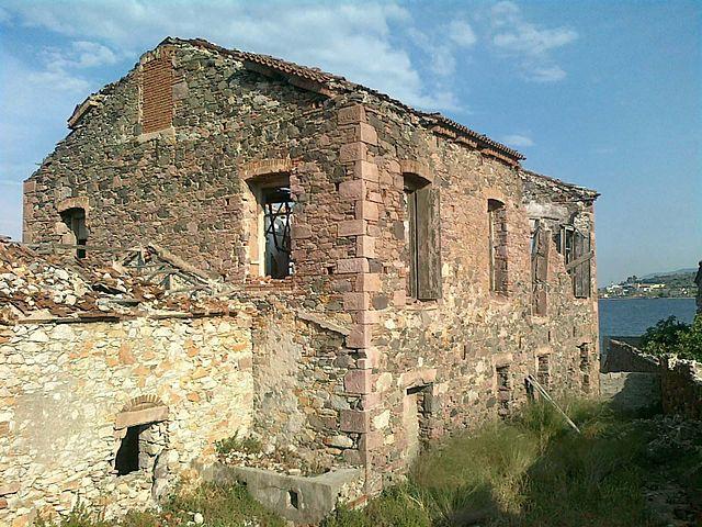 Soap or oil press ruins in Panayouda, Lesvos