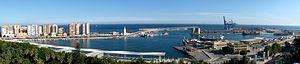 Panorama Malaga Harbor