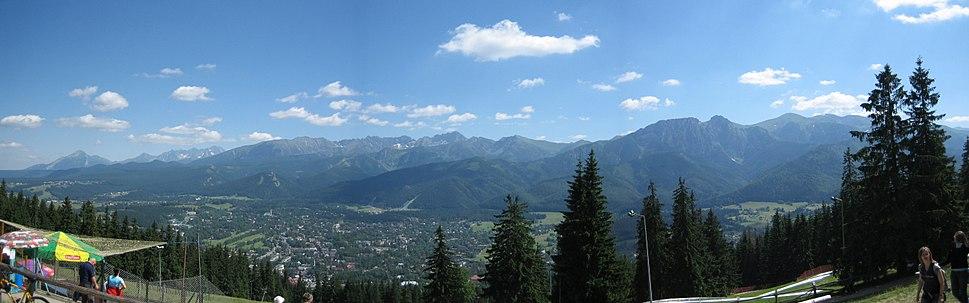 Panorama Tatr z Guba%C5%82%C3%B3wki