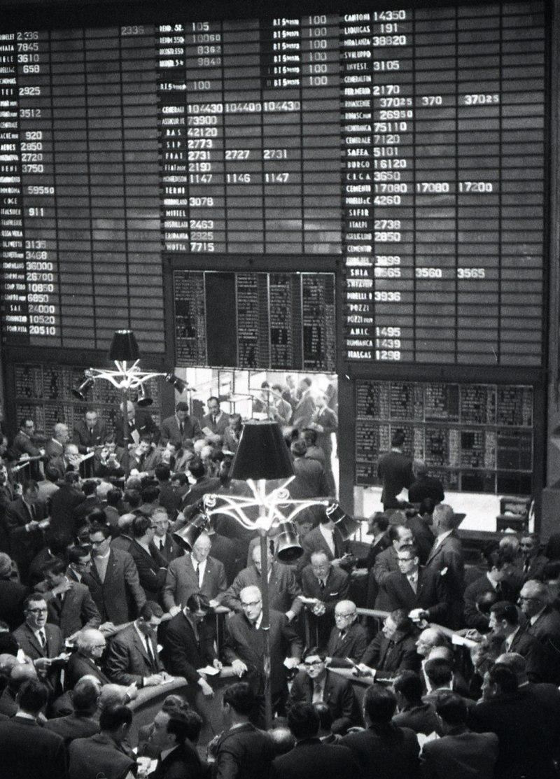 Borsa di Milano Ftse mib Foto di Paolo Monti, 1968