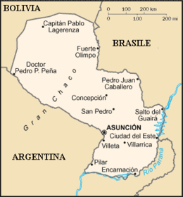 Paraguay - Mappa