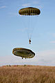 Paratroopers with 3 PARA Landing at a Dropzone MOD 45158309.jpg