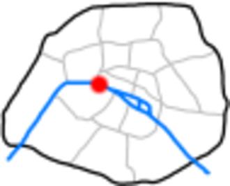 Passerelle Léopold-Sédar-Senghor - Location on the Seine