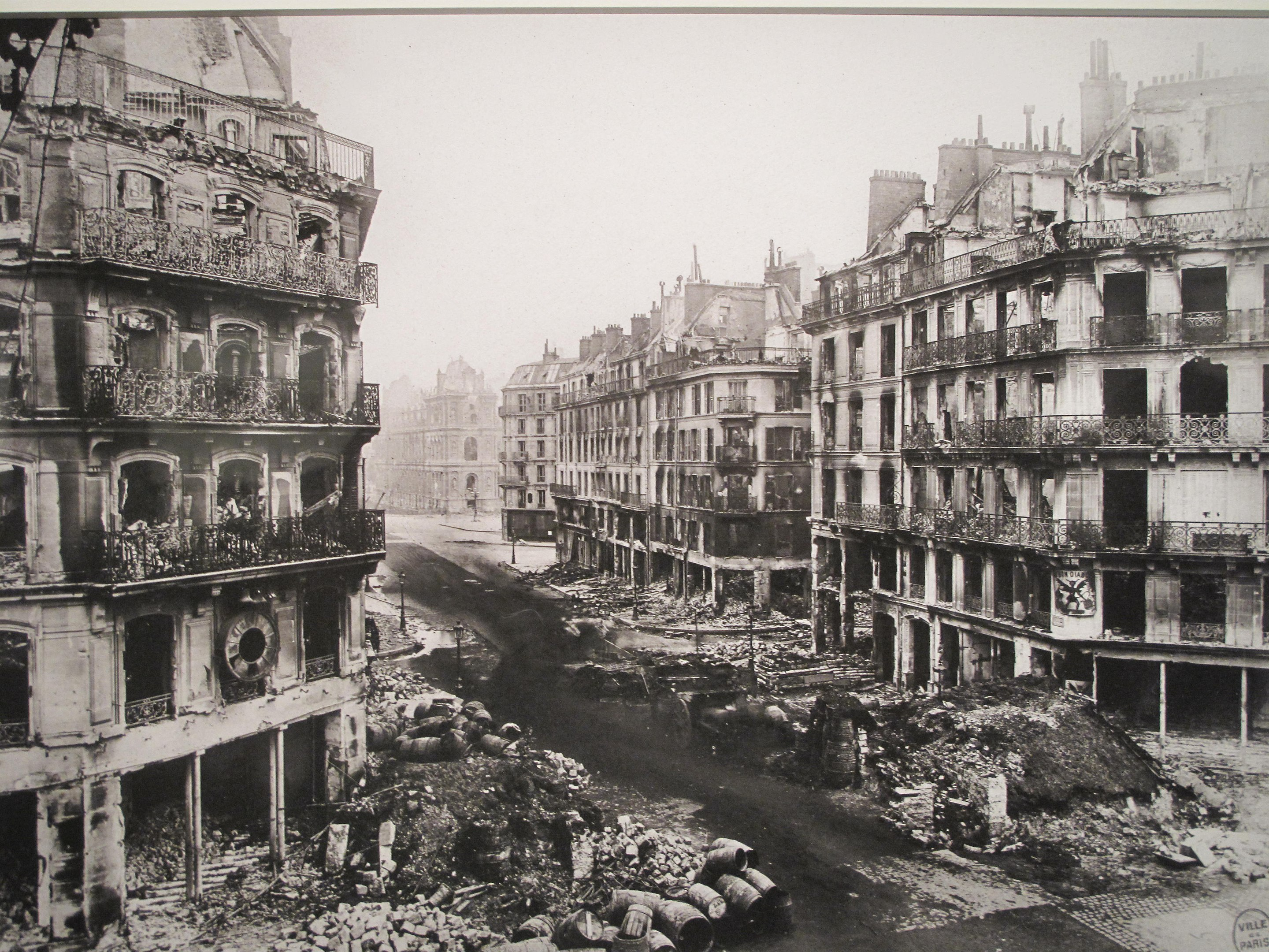 rue de Rivoli after the fights and the fires of the Paris Commune