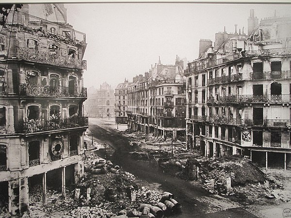 The rue de Rivoli in Paris after the defeat of the Commune (May 1871) Paris Commune rue de Rivoli.jpg