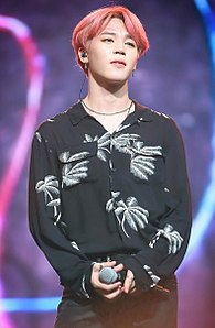 Park Ji-min at Music Bank in Singapore 01.jpg