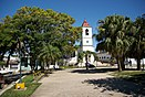 Church and central square in Manicaragua, Cuba