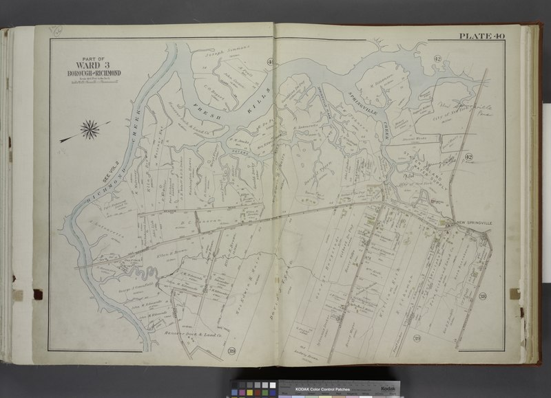 File:Part of Ward 3. (Map bound by Richmond Creek, Fresh Kills, Springville Flaak, Springville Creek, Travis Ave (Union), Richmond Ave (Bridge Ave) (Old Stone RD), Rockland Ave, Klondike Ave, NYPL1646260.tiff