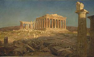 The Parthenon (painting) - Image: Parthenon (1871) Frederic Edwin Church
