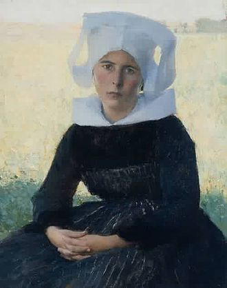 Pascal Dagnan-Bouveret - Image: Pascal Adolphe Jean Dagnan Bouveret xx Woman in Breton Costume Seated in a Meadow 1887
