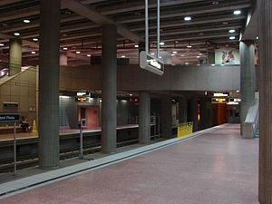 Passenger platform at Steel Plaza Station.JPG