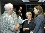 Patty Murray and Maria Cantwell with Gen. Arthur Lichte at Fairchild.jpg