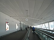 Moving walkway leading to departure gates