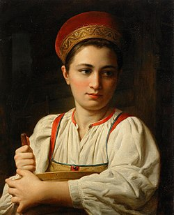 Peasant girl by anonimous (Russia, 19 c., priv.coll.).jpg