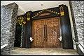 Penang Church of Divine Mercy carved doors-1 (24276187872).jpg