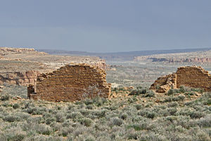 Peñasco Blanco - Peñasco Blanco view of Chaco Canyon.