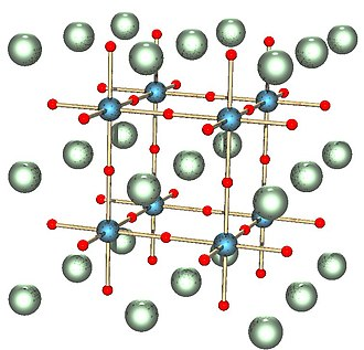 Materials science - Crystal structure of a perovskite with a chemical formula ABX3