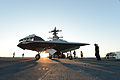 Personnel tow a U.S. Navy X-47B Unmanned Combat Air System demonstrator aircraft on the flight deck of the aircraft carrier USS George H.W. Bush (CVN 77) May 14, 2013, in the Atlantic Ocean 130514-N-YZ751-311.jpg