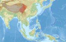 Petaurista xanthotis distribution map.png