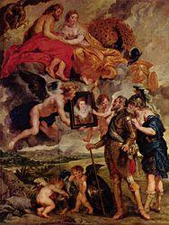 Peter Paul Rubens: The Presentation of Marie de' Medici's Portrait to Henry IV