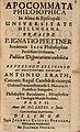 Pfettner, Ignaz Apocommata philosophica. Pars II, Dillingen 1681.jpg