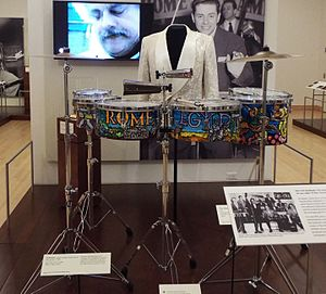 Music of Puerto Rico - The timbales of Tito Puente on exhibit in the Musical Instruments Museum in Phoenix, Az.
