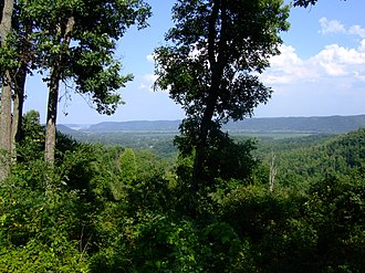 Shawnee State Forest - View from Picnic Point in Shawnee State Forest