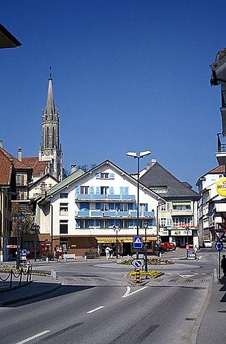 Châtel-Saint-Denis - Roundabout in Châtel-Saint-Denis